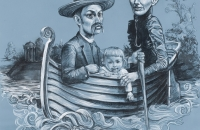 mee-simon_boating-on-the-styx_2010_challk-and-charcoal-on-primd-paper_-140-x133cm