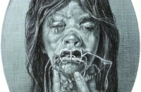 they-dont-make-shrunken-heads-like-they-used-to_2013_31x41cm_chalk-and-charcoal-on-laid-paper
